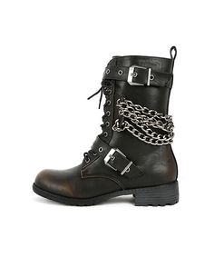 EMAN - CHAIN COMBAT BOOTS  #shoes