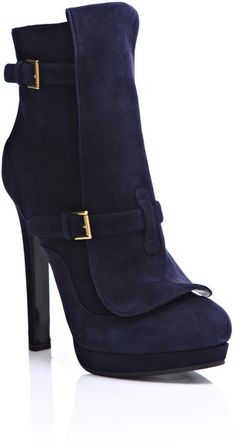 ALEXANDER MCQUEEN Suede Ankle Boots - Lyst