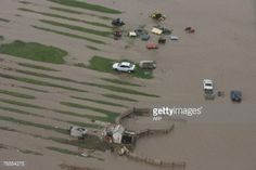Flooded farmland and cars are seen in an aerial view of the... #tecuci: Flooded farmland and cars are seen in an aerial view of… #tecuci