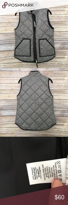 Jcrew Printed quilted puffer vest Jcrew printed quilted puffer vest, new with tags, poly material zip closure, snap patch pockets, machine wash J. Crew Jackets & Coats Vests