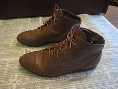 Vintage 80s Brown Leather Granny Lace Up Romanian Pixie Victorian Ankle Boots by courirdelamémoire, via Flickr