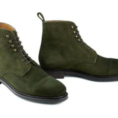 Handmade mens hunter green ankle boots, men suede boot, men ankle high boots