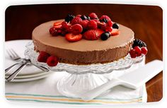 Philadelphia chocolate and fruit cheesecake recipe. Cheese recipes from Cookipedia. This fruity chocolate cheesecake is simple and quick to make.