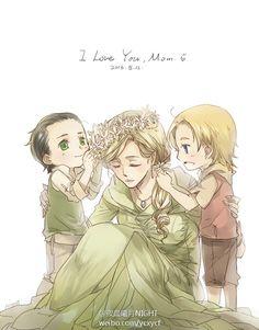 Frigga, Little Thor and Loki -cutest shit I`ve ever seen