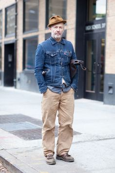 Street Style: Denim and Chinos, a Classic Combination  Smitty Musician  Levi's Carhartt Western Boots LOLA leather