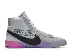 detailed look f1b62 14ba4 Off White x Nike Blazer The Queen AA3832-002 Chaussures de basket pas cher  hommes