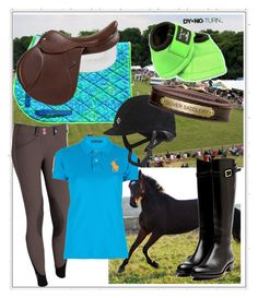 """""""This morning i had the Best ride I've had in a long time"""" by seriouslysmile ❤ liked on Polyvore featuring Rupert Sanderson and Ralph Lauren Blue Label"""