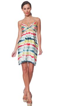 Such a fun colorful dress. We still have this in the store.