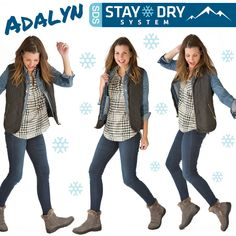 Let it snow, let it snow, let it snow! Winter weather has met its match with our SDS boots. Slip on the Adalyn and stay toasty warm while rockin' a cozy, cute style.