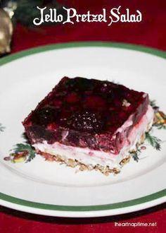 Raspberry Pretzel Salad! I Heart Nap Time | I Heart Nap Time - Easy recipes, DIY crafts, Homemaking