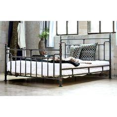 Furniture of America Revo Industrial Antique Black Metal Bed (