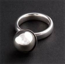 Georg Jensen Sterling Silver Sphere Ring # 473A, Silver Ball. Regitze Overgaard. #ClayJensenSterlingSilver