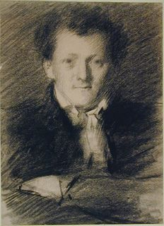 Adolphe-Félix Cals - Portrait of a Man, bust-length, with folded Arms Collections: Western Art Drawings Collection: Browse - Ashmolean Museum Drawing Heads, Art Drawings, Folded Arms, Western Art, Mona Lisa, Museum, Collections, Portrait, Artwork