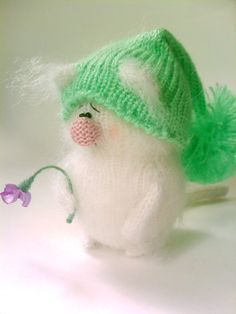 Philip White Sad Kitten & Wilted Flower by MiracleStore on Etsy