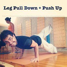 "@inspirahpilates's photo: ""@SilencioAgudo haciendo el Leg Pull Down + Push Up en la #FormacionPilates @Balanced_Body"""