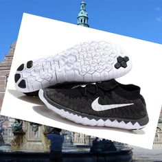 Nike Free Flyknit 3.0 mens black white shoes HOT SALE! HOT PRICE!