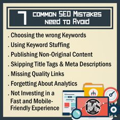 Here are some common SEO mistakes you should avoid! Website Design Services, Digital Marketing Services, Search Engine Optimization, Web Development, Content Marketing, Service Design, Mistakes, Seo, Investing