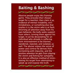 Shop Baiting & Bashing Postcard created by KnowledgePower. Narcissistic People, Narcissistic Behavior, Narcissistic Sociopath, Narcissistic Personality Disorder, Narcissistic Tendencies, Narcissistic Husband, Sociopath Traits, Sociopathic Behavior, Abusive Relationship