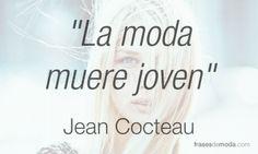 Frase de moda de Jean Cocteau