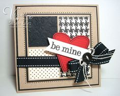 VLVFEB2011--Be Mine by susiestampalot - Cards and Paper Crafts at Splitcoaststampers... love the use of black...
