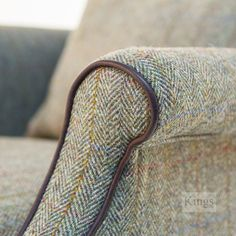 Tetrad Harris Tweed Bowmore in Loden Herringbone ch. A texture like this would be great for a family room ottoman Reupholster Furniture, Furniture Upholstery, Scottish Decor, Harris Tweed Fabric, Herringbone Fabric, Upholstered Furniture, Antique Furniture, Chair Fabric, Textiles