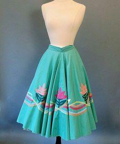 Lovely ribbons circle skirt