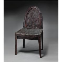 Haida Carved and Inlaid Chair ~  Lot | Sotheby's