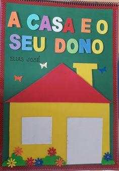 "Atividades Escolares: Livro gigante ""A casa e seu dono"" Elias José Krishna Janmashtami, Happy Kids, Preschool, Logos, Creative, Instagram, Children's Literature, Literacy Activities, Infant Activities"