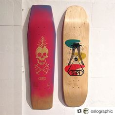 """SIPI CONCRETE SHREDDERS: COCO-PIÑA COFFIN POP & SIPI """"ABIDES"""" BOWLER SHAPE available @oslographic #sipigoods #craftedbyhand #skateboards #rideableart #arrofradical #madelocal #bcn #art #arte #illustration #design #fabrication #woodworking #goodmorning #goodvibes #goodtimes #skate #skateallday #streetsurfing #surf #lifestyle #oslographic #barcelona #california #puertorico"""
