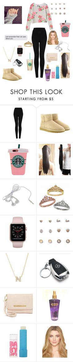 """😎"" by nikinewman on Polyvore featuring Victoria's Secret, Topshop, UGG, Eternally Haute, Forever 21, Nadri, Mercedes-Benz, Steve Madden and Maybelline"