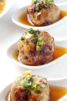 These juicy Thai-style pork meatballs are deliciously flavored with lemongrass, ginger and garlic. As an appetizer these meatballs are amazing with the intensely flavorful dipping sauce, but they also make a great main course.