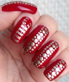 Little Miss Nailpolish: Inspired by a red leather jacket nail art