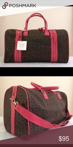 ✈️CK Travel Luggage!! ✈️💕😍❄️❄️ Monogram Calvin Klein travel Luggage. Perfect for you mini vacations. & perfect for gift this Feb/14 💕💕😍 Calvin Klein Other
