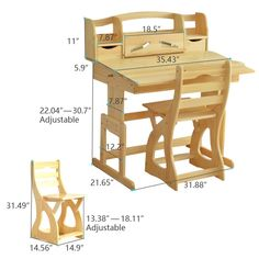 Harriet Bee Rollison Kids Study Desk and Chair Set with Kids Hutch Small Woodworking Projects, 2x4 Wood Projects, Woodworking Furniture Plans, Woodworking Books, Woodworking Machinery, Fine Woodworking, Router Woodworking, Kids Study Desk, Desk And Chair Set