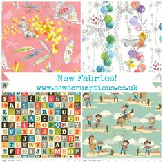 New Fabrics now available at www.sewscrumptious.co.uk