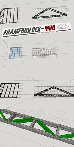 Light Steel Frame Designer for SketchUp. Details and cost light steel frame structure in minutes Steel Frame House, Steel House, Roof Structure, Steel Structure, Diy Storage Shed Plans, Roof Truss Design, Co Housing, Steel Frame Construction, Roof Trusses