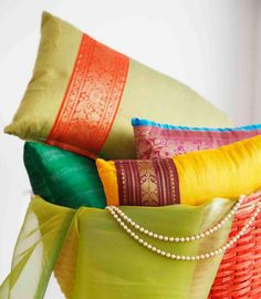 Art Infused Ethnic Furniture Splendor Of Wood N Silk From Furnicheer Indian Ethnic Cushion Covers Ethnic Furniture Diy Cushion Covers, Cushion Cover Designs, Decorative Pillow Covers, Cover Pillow, Indian Interior Design, Interior Design Themes, Ethnic Home Decor, Indian Home Decor, Indian Pillows