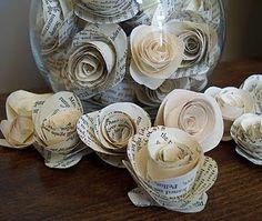 Rosas de papel fáciles de hacer