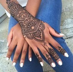 Cool Mandala Hand Tattoo Ideas at MyBodiArt