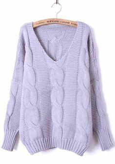 Grey Batwing Long Sleeve Diaper Loose Sweater