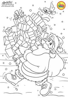 Christmas Coloring Pages - Božić bojanke za djecu - Free Printables for Kids - Christmas Tree, Cookies, Santa Claus and Snowman, Reindeers and more on BonTon TV - Coloring Books New Year Coloring Pages, Baby Coloring Pages, Coloring Sheets For Kids, Free Adult Coloring Pages, Coloring Books, Christmas Mandala, Christmas Trees For Kids, Christmas Colors, Christmas Coloring Sheets
