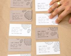 Love the idea of these handmade business cards they look cute and raspberry ruffles handmade business cards colourmoves