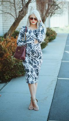Print dress #maternitystyle #stylishpregnancy