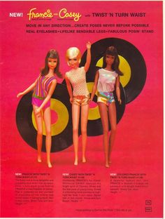 Francie and Casey [Barbie] Dolls with Twist 'N Turn Waist. I still have my Francie doll.