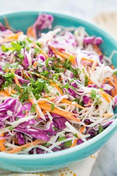 With winter out of the way, one vegetable I've been seeing in abundance at Bay Area farmers markets is the sputnik-like vegetable with the funny name, kohlrabi. Eaten raw, it's fresh, crisp, and the ideal ingredient for a summer slaw.