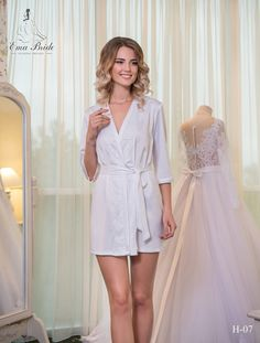 Buy Bridal Nightgown Ema Bride with delivery . Bridal Nightgown, Bridal Robes, Cathedral Wedding Dress, Open Back Wedding, Bridesmaid Robes, Beautiful Bride, I Dress, Night Gown, Evening Dresses