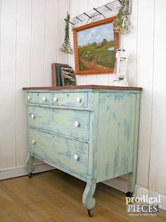 Summertime Sky Farmhouse Dresser by Prodigal Pieces   www.prodigalpieces.com