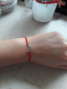 Crescent Moon | Halbmond Armband schnur handmade 925 Silver