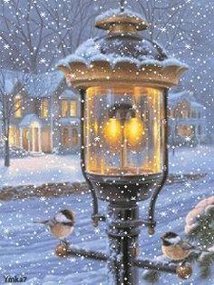 christmas scenes beeindruckendes Bild S - Christmas Scenes, Christmas Pictures, Christmas Art, Winter Christmas, All Things Christmas, Christmas Lights, Christmas Decorations, Winter Snow, Winter Light