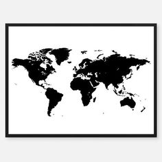 Silver and Black World Map Atlas Cartography Poster 24 x 36 inches World Happiness, Buy World Map, Countries To Visit, Map Vector, Travel Maps, Cool Posters, Cartography, Poster Wall, Day Trips